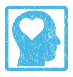 Lover head icon rubber stamp vector