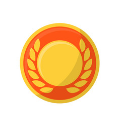 medal with wreath vector image