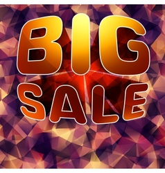 Modern background for futuristic Big sale EPS 10 vector image vector image