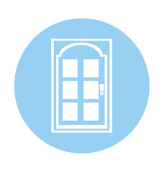 Modern house door icon vector