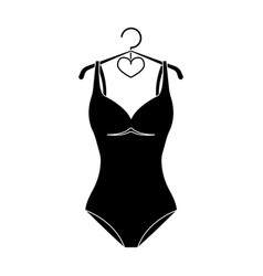 monotone blue swimsuit for girls bathing clothes vector image