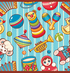 musical instrument and baby toys vector image