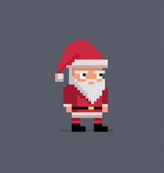 pixel art cute santa claus vector image vector image