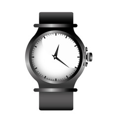 Realistic graphic with gray female bracelet clock vector
