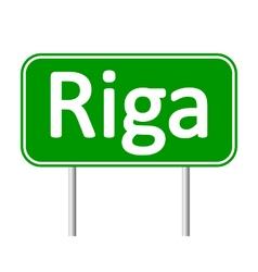 Riga road sign vector