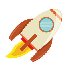 Rocket launch space image vector