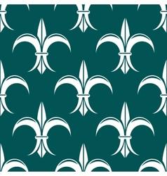 Seamless fleur-de-lis royal white pattern vector