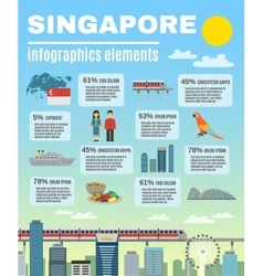 Singapore culture infographic presentation layout vector