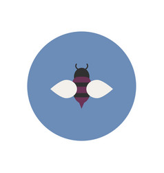 stylish icon in color circle honey bee vector image vector image