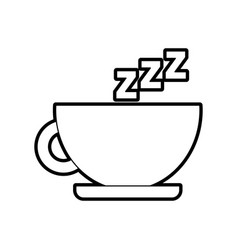 Tea cup with zzzz vector