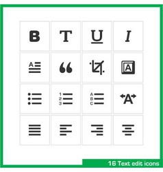 Text edit icon set vector image vector image