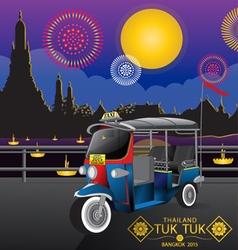 Tuk tuk temple thailand 1 vector
