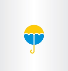 umbrella icon symbol logo vector image vector image