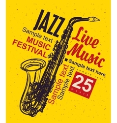 Music poster jazz festival vector