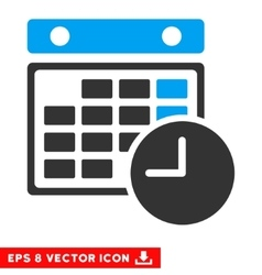 Time Table Eps Icon vector image