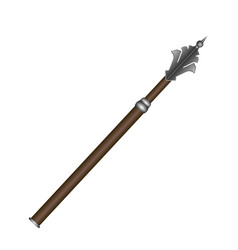 Isolated medieval weapon vector