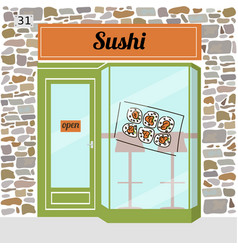 Sushi cafe fast food bar vector