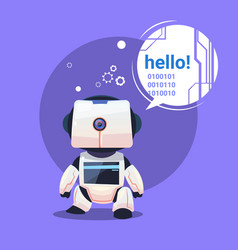 modern robot says hello futuristic artificial vector image