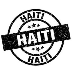 Haiti black round grunge stamp vector