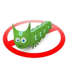Green caterpillar pest runner vector