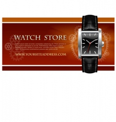Watch store card vector