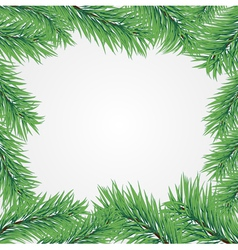 Frame with christmas tree branch vector