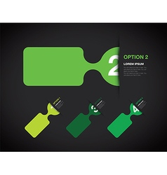 green option background vector image