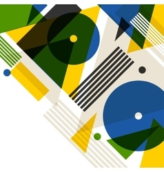 Background with rio in abstract geometric style vector
