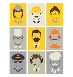 Set avatars - people of different professions vector image