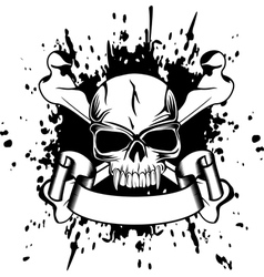 Skull and crossed bones vector