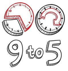 9 to 5 vector image