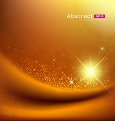 Abstract sunlight on gold silk vector image vector image
