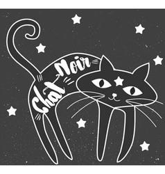Black cat art vector