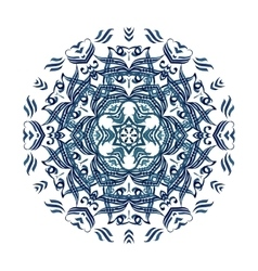 Blue watercolor mandala abstract vector
