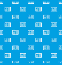 Business strategy plan pattern seamless blue vector