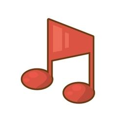 cartoon quaver note musical vector image