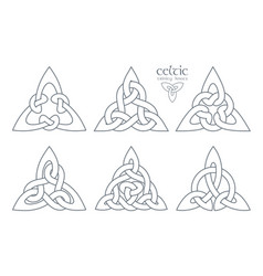 Celtic trinity knot part 2 ethnic ornament vector
