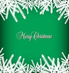 Christmas banner pine green vector