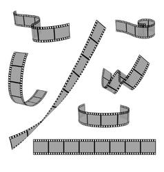 Cinema film strip roll 35mm blank slide frame vector image