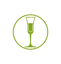 Classic champagne glass alcohol beverage theme li vector