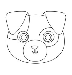 Dog muzzle icon in outline style isolated on white vector