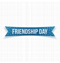 Friendship day realistic curved banner vector