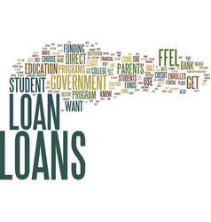 government student loans the easy way to get a vector image
