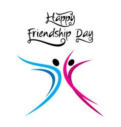 Happy friendship day design vector