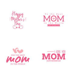 happy mother day vector image vector image