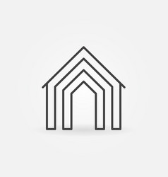 Home concept icon vector