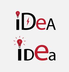 Idea text element for logo vector