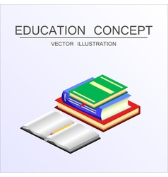 Isometric education and graduation concept 3d back vector