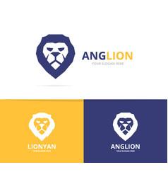 Lion logo or symbol design template vector