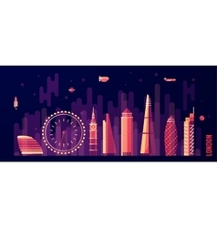 London England city skyline flat style vector image